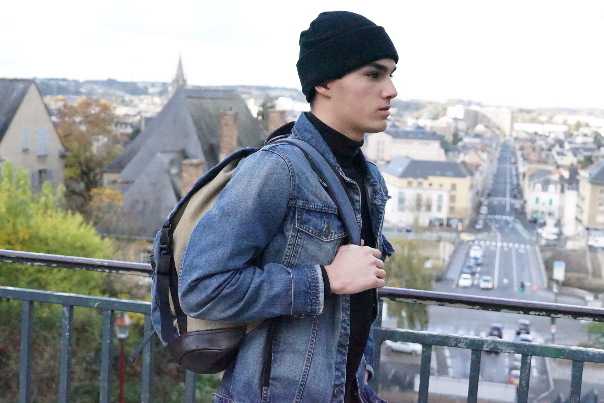 Veste jean noir pull and bear